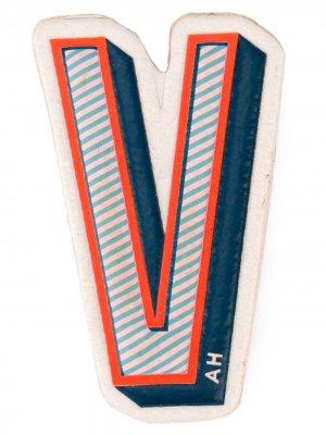 Стикер V Anya Hindmarch. Цвет: синий