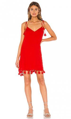 Платье throw and go Show Me Your Mumu. Цвет: красный