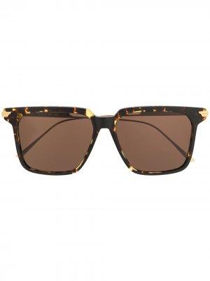 Солнцезащитные очки BV1006S в оправе черепаховой расцветки Bottega Veneta Eyewear. Цвет: коричневый