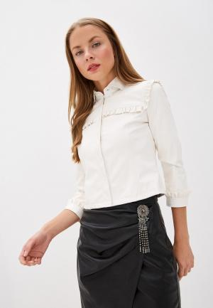 Куртка кожаная Liu Jo White Label. Цвет: белый