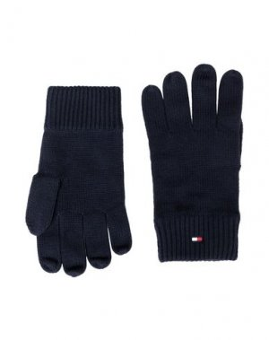 Перчатки TOMMY HILFIGER. Цвет: темно-синий