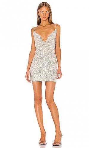 Платье-комбинация baldwin Jay Godfrey. Цвет: металлический серебряный