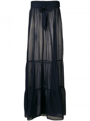 Пляжная юбка-макси на завязке Marlies Dekkers. Цвет: синий