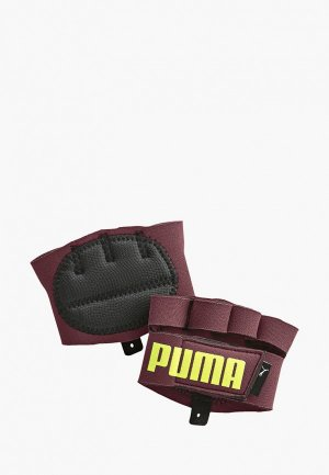 Перчатки для фитнеса PUMA TR Ess Grip Gloves. Цвет: бордовый