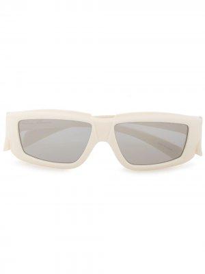 Солнцезащитные очки в квадратной оправе Rick Owens. Цвет: белый