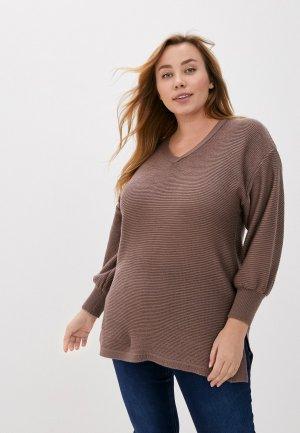 Пуловер Lacy. Цвет: коричневый