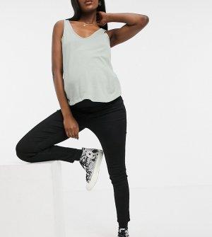 Черные облегающие джинсы суперстрейч с эластичной вставкой для животика -Черный цвет Cotton:On Maternity
