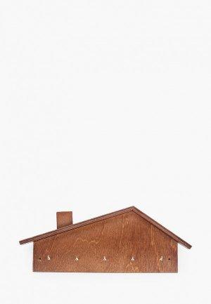 Ключница настенная Мастер Рио. Цвет: коричневый