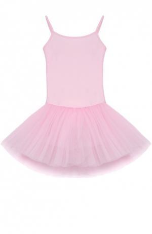 Приталенное платье с пышной многоярусной юбкой Deha. Цвет: розовый