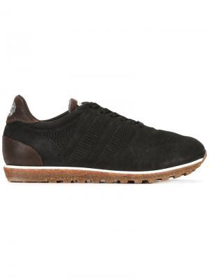 Кроссовки на шнуровке Alberto Fasciani. Цвет: черный