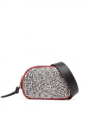 Поясная сумка x Mickey Mouse Keith Haring Coach. Цвет: черный