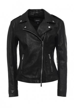 Куртка кожаная Arma AR020EWQOF32. Цвет: черный