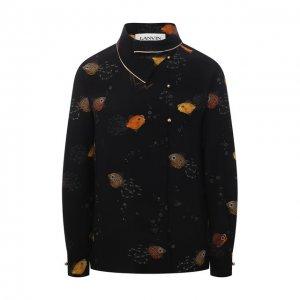 Шелковая блузка Lanvin. Цвет: чёрный