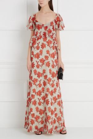 Шелковое платье Chapurin. Цвет: красный