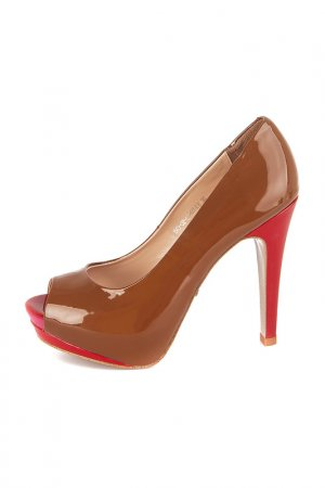 Туфли Calipso. Цвет: коричневый, красный
