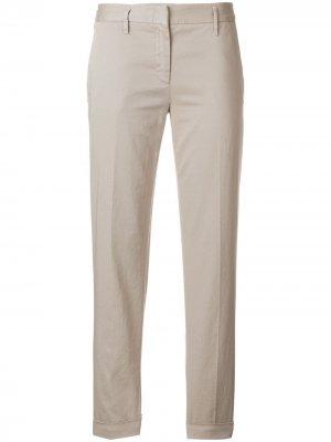 Укороченные брюки чинос Aspesi. Цвет: серый