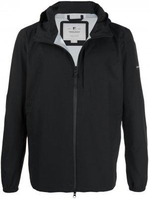 Куртка на молнии с нашивкой-логотипом Woolrich. Цвет: черный