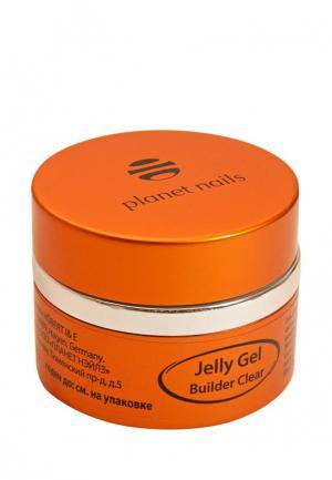 Гель-лак для ногтей Planet Nails 11073 Clear Builder Jelly Gel конструирующий, прозрачный 30 г. Цвет: прозрачный