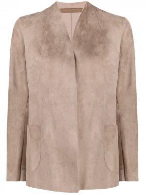 Куртка с запахом Salvatore Santoro. Цвет: нейтральные цвета