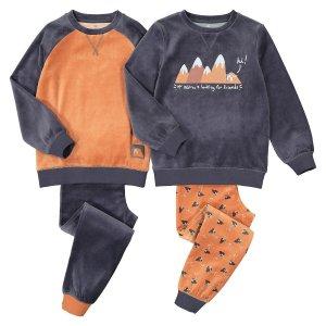 Комплект из 2 пижам с LaRedoute. Цвет: каштановый