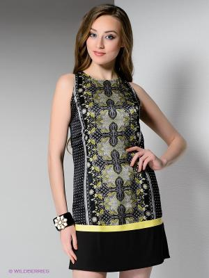 Платье BOVONA. Цвет: черный, желтый