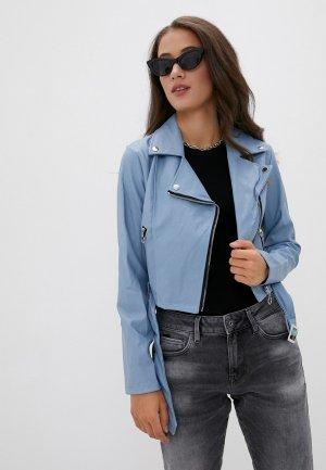 Куртка кожаная DeFacto. Цвет: голубой