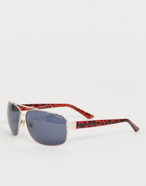 Золотистые солнцезащитные очки-авиаторы в черепаховой оправе Levis-Мульти Levi's