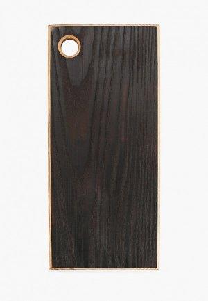 Доска разделочная Svahomeart 34х16 см. Цвет: черный
