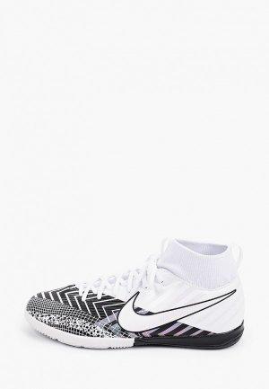 Бутсы зальные Nike JR SUPERFLY 7 ACADEMY MDS IC. Цвет: белый