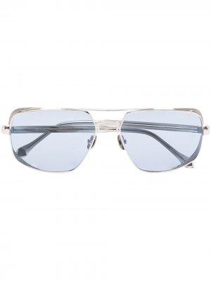 Солнцезащитные очки-авиаторы M3111 Matsuda. Цвет: серебристый