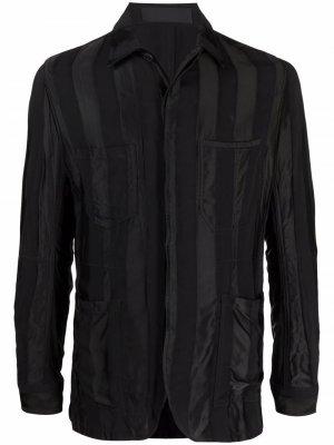 Куртка-рубашка в полоску Haider Ackermann. Цвет: черный