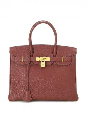 Сумка Birkin 30 pre-owned Hermès. Цвет: красный