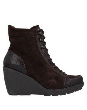 Полусапоги и высокие ботинки FARRUTX. Цвет: темно-коричневый