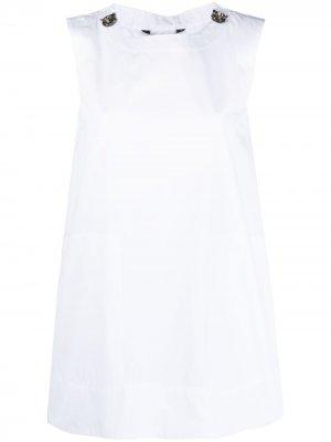 S Max Mara рубашка А-силуэта без рукавов 'S. Цвет: белый