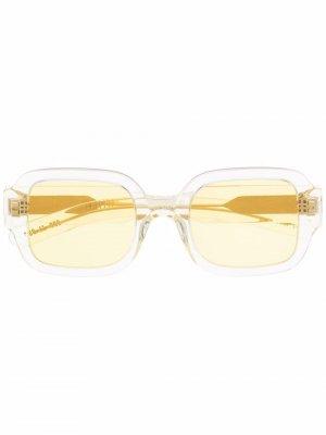 Солнцезащитные очки в прозрачной оправе FLATLIST. Цвет: желтый
