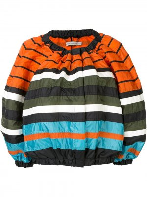 Полосатая куртка-бомбер Mary Katrantzou. Цвет: разноцветный