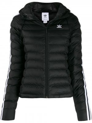 Пуховик Originals Slim adidas. Цвет: черный