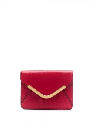 Маленький кошелек Postbox Anya Hindmarch. Цвет: красный