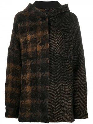 Куртка оверсайз с контрастным узором Avant Toi. Цвет: коричневый