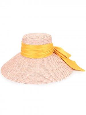 Соломенная шляпа Mirabel Eugenia Kim. Цвет: розовый