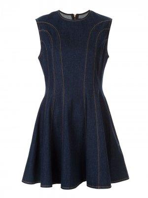 Короткое платье без рукавов Karen Walker. Цвет: синий
