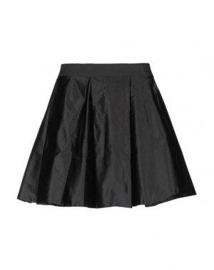 Мини-юбка CRUCIANI. Цвет: черный