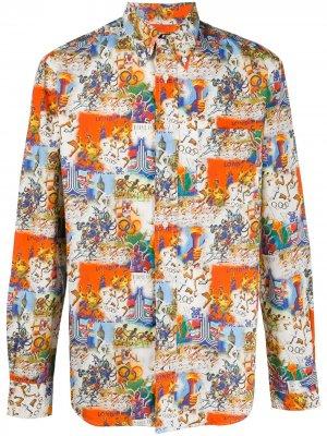 Рубашка Summer Olympics Gitman Vintage. Цвет: белый