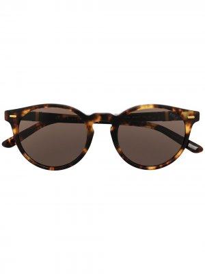 Солнцезащитные очки в оправе черепаховой расцветки Polo Ralph Lauren. Цвет: коричневый