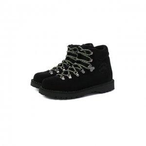 Замшевые ботинки Diemme. Цвет: чёрный