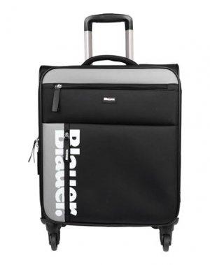 Чемодан/сумка на колесиках BLAUER. Цвет: черный