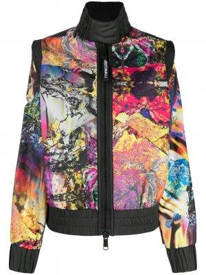 Куртка-бомбер со вставками Just Cavalli. Цвет: черный