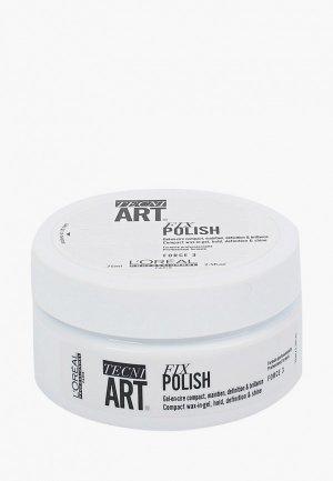 Гель для укладки LOreal Professionnel L'Oreal Tecni.Art Fix Polish блеска и фиксации волос. Цвет: прозрачный
