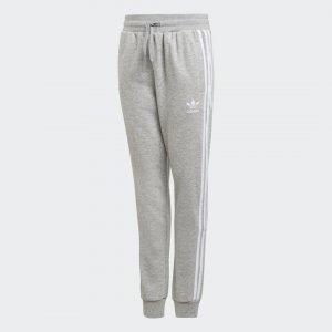 Брюки 3-Stripes Originals adidas. Цвет: белый