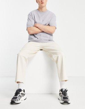 Широкие джинсы до щиколотки цвета экрю Intelligence Rob-Нейтральный Jack & Jones